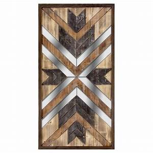 Wooden Mirror Panel Wall Art- 23 x 43-in At Home