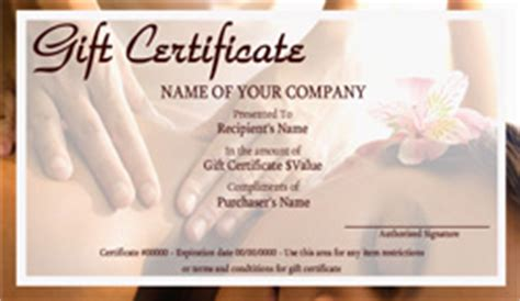 printable massage gift certificates easy
