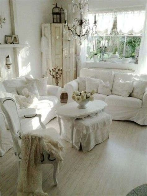white shabby chic 26 charming shabby chic living room d 233 cor ideas shelterness