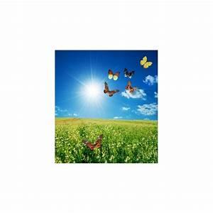 affiche poster champ de fleur ensoleille stickers With affiche chambre bébé avec champ de fleur avis
