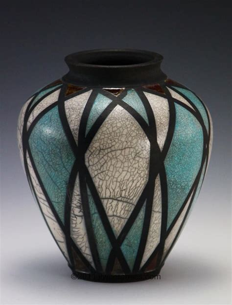 divided light raku vase jlw ceramics pottery inspiration
