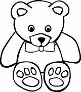 Teddy Bear Coloring Pages Printable Clip Brown sketch template