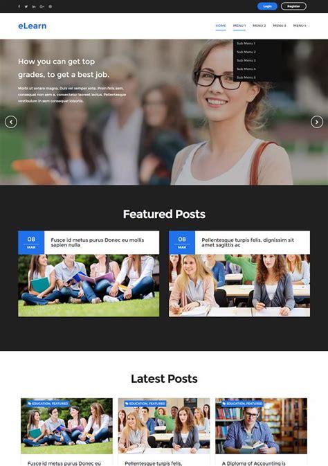 elearn blogger template  education site abtemplatescom
