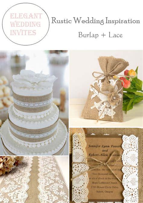 rustic burlap lace wedding decorations and inspiration elegantweddinginvites