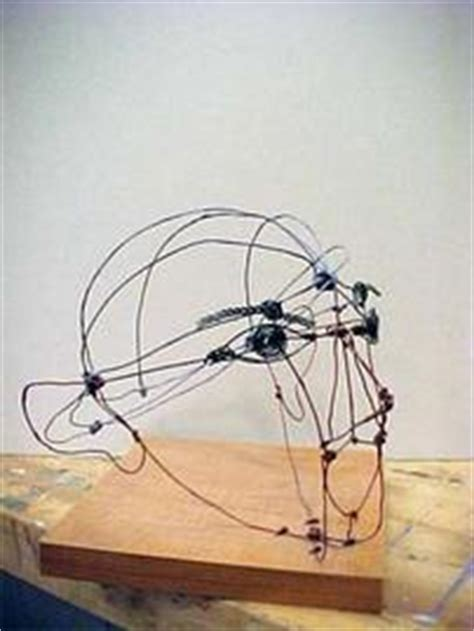 art lesson linear sculpture wire