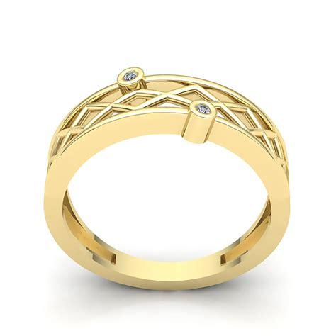 0 15ct round cut diamond mens fancy zigzag wedding band