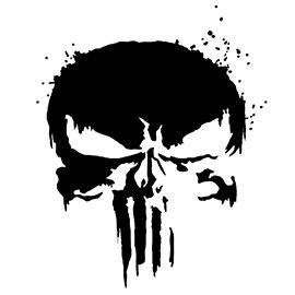 punisher skull symbol  stencil  stencil gallery