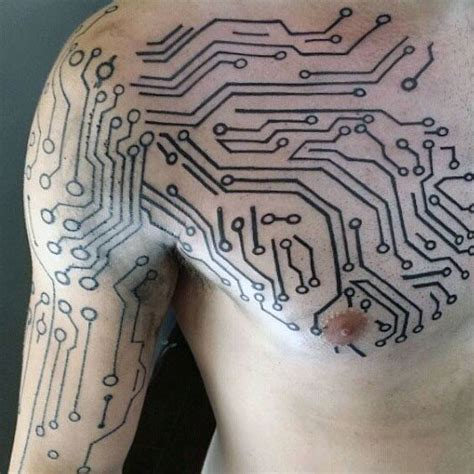 60 Circuit Board Tattoo Designs For Men  Electronic Ink Ideas
