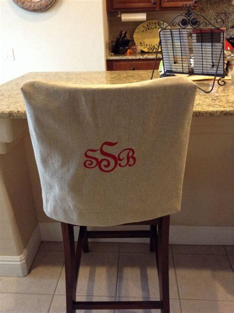 Fabric To Cover Dining Room Chairs by Monogrammed Chair Back Cover Linen Washable