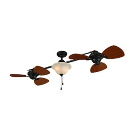 Dual Head Ceiling Fan Lowes by Shop Allen Roth 74 In Twin Breeze Aged Bronze Ceiling