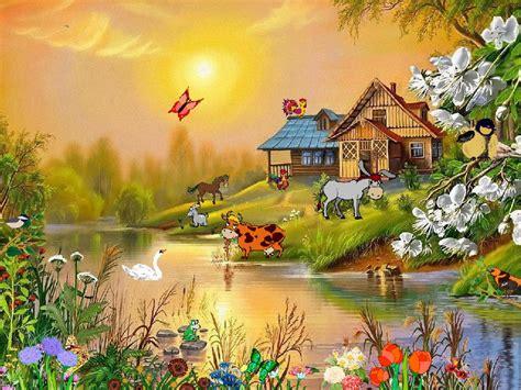 village idyll  screensaver