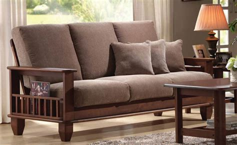 cusion bed wood sofa at the galleria