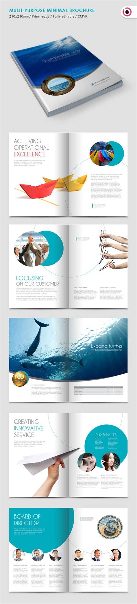 simple  beautiful brochure design inspiration