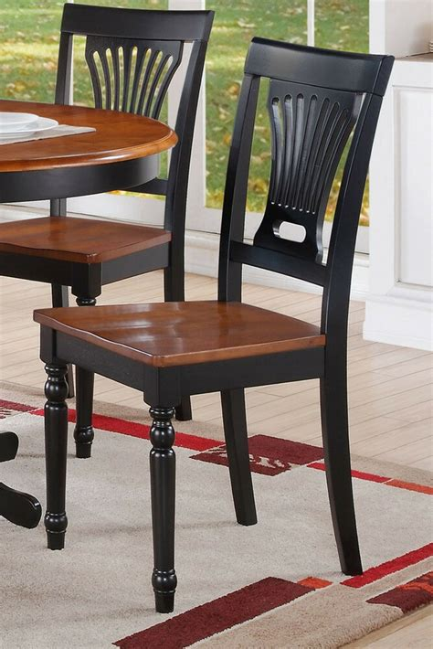 set   plainville kitchen dining chairs  wood seat