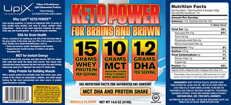 custom home designer label design for ketopower mct dha and protein shake mix