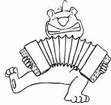 Accordion Coloring Playing Pages Chipmunk Printable Freeprintablecoloringpages Music sketch template