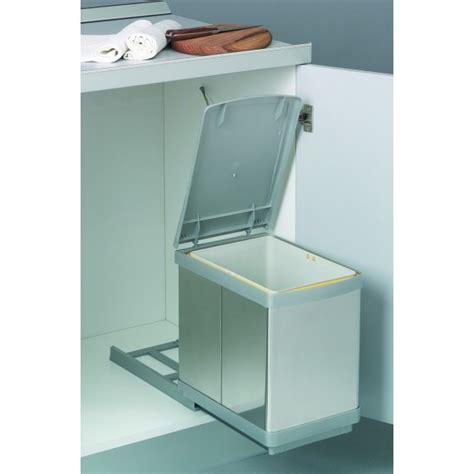 poubelle de porte cuisine poubelle de cuisine coulissante sous évier 1 bac 16 l bricozor