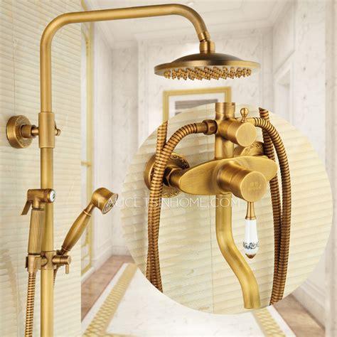 antique brass wall mounted outdoor shower faucet  bidet