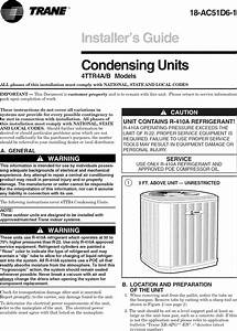 Trane Air Conditioner  Heat Pump Outside Unit  Manual L0905062