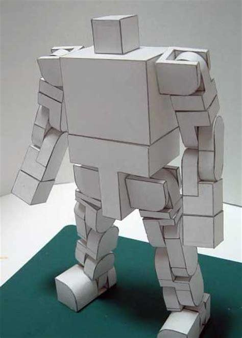 highly poseable robot papercraft paperkraftnet