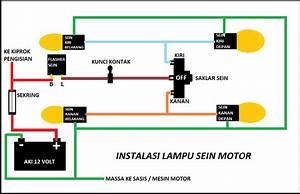 Cara Membuat Rangkaian Instalasi Lampu Sein Motor