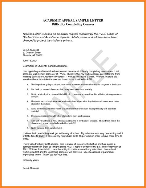 financial aid appeal essay examples appeal letter