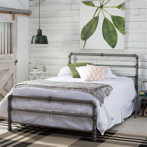 headboard 25 best ideas about pipe bed on industrial Industrial