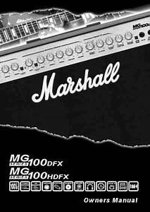 Marshall Mg100dfx Mg100hdfx Amplifier Download Manual For