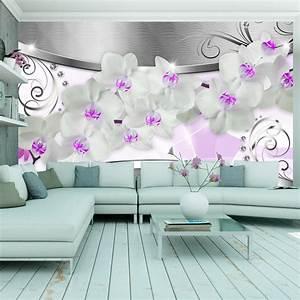 vlies fototapete 3 farben zur auswahl tapeten orchidee With markise balkon mit 3d blumen tapete
