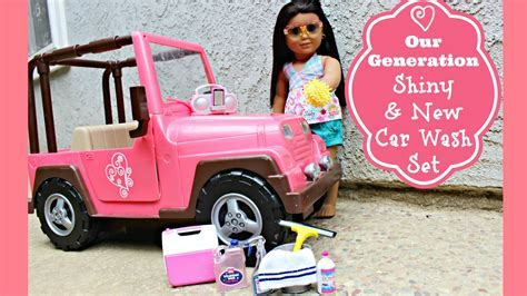 American Girl Doll Car Wash Playset Review   YouTube