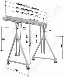 Alloy Gantry  U0026 39 A U0026 39  Frame With Twin Parallel Top Beams And