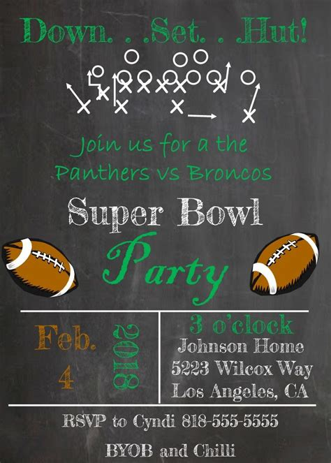 order form   super bowl party invitations