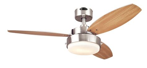 westinghouse 7247300 alloy two light reversible three blade indoor ceiling fan 42