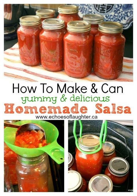 Quick and easy salsa recipe made with fresh or canned tomatoes, onion, jalapeño, garlic, lime juice and cilantro. Homemade Sweet & Crunchy Pickles & 4 Other Canning Recipes   Salsa canning recipes, Canning ...