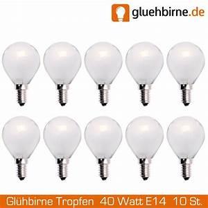 E14 40 Watt : 10 x gl hbirne tropfen 40w e14 matt gl hlampe 40 watt gl uu ~ Eleganceandgraceweddings.com Haus und Dekorationen