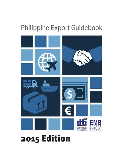 bureau export philippine export guidebook 2015 by export marketing