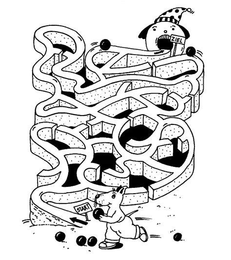 ausmalbild labyrinthe fuer kinder kugelbahn kostenlos