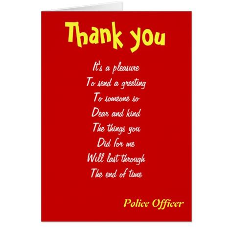 Thank You Police Officer Quotes