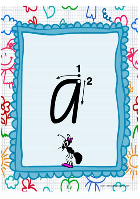 year  handwriting lowercase letter formation vic print