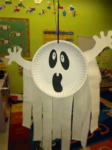Paper Plate Ghost Preschool Crafts