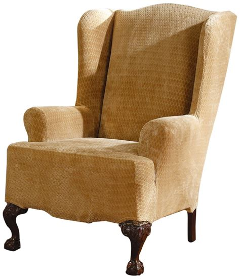 wing chair slipcovers sure fit slipcovers stretch royal wing chair cover