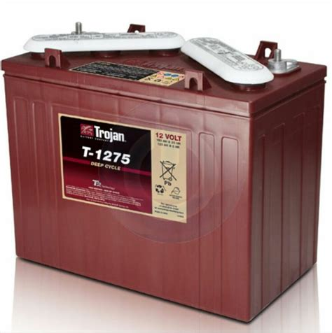 new trojan t 1275 12v 12 volt golf cart battery rv marine ebay
