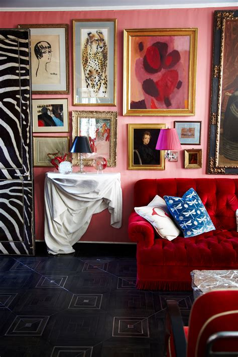 miles redd decor interior elle pink decorating room living definitely want mood something designers digest architectural decorate magazine indian sofa
