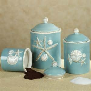 Turquoise Kitchen Canister Sets by Coastal Canisters Coastal Decorative Accessories