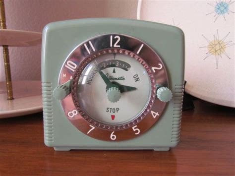 Intermatic Clock And Appliance Timer 1960's In Seafoam