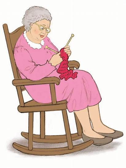 Lady Rocking Chair Clipart Woman Clip Knitting