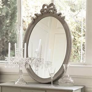 Miroir Fenetre Maison Du Monde : miroir ovale en bois taupe h 95 cm bianca maisons du monde ~ Teatrodelosmanantiales.com Idées de Décoration