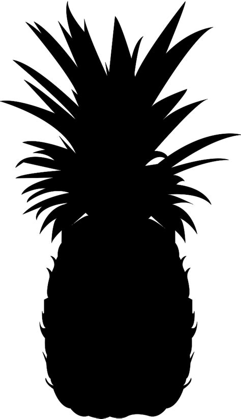 pineapple top silhouette pineapple silhouette free vector silhouettes