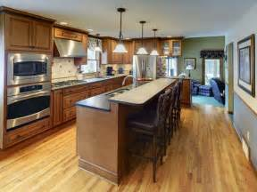one wall kitchen with island kitchen island design ideas photos and descriptions