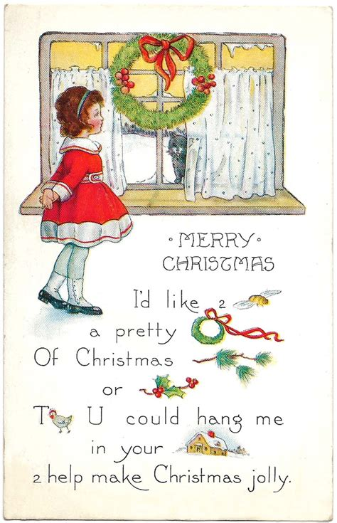 1237 quotes have been tagged as christmas: Free Printable Christmas Cards - From Antique Victorian to Modern Postcards